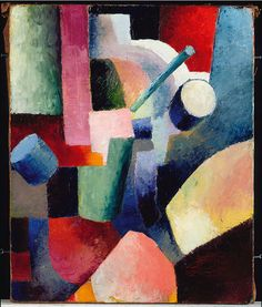 August Macke:  Colored Composition of Forms (1914) via Google Art Project