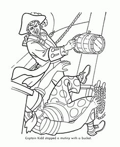 Bluebonkers Caribbean Pirates Of The Sea Coloring Pages
