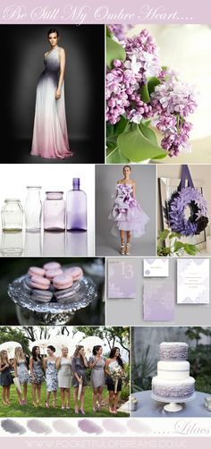 I love lilacs, and the dress in the top row is gorgeous. Yes, thats comming from a tom boy that normaly hates dresses. LoL
