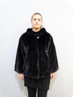 Plus size fur jacketreal mink furplus size furbig by FilimegasFurs Black Fur Jacket, Mink Jacket, Mink Colour, Mink Fur, Furs, High Fashion, Fur Coat, The Unit, Plus Size