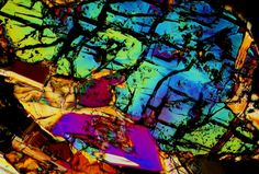 Unclassified NWA meteorite thin section