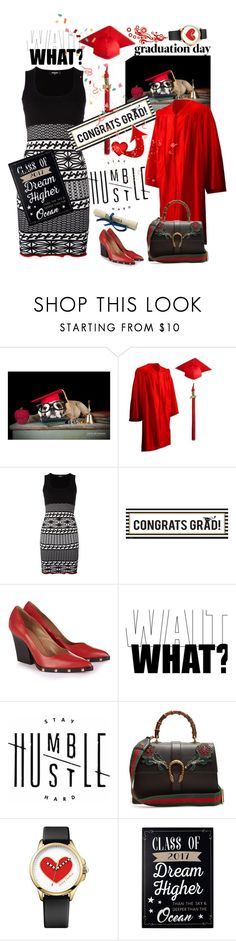 """Graduation Day 2017"" by tmcintyre ❤ liked on Polyvore featuring Dsquared2, Buy Seasons, Sonia Rykiel, Gucci, Juicy Couture, New View and Graduation"