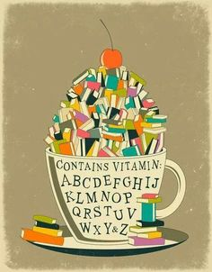 Coffee + books = happiness.