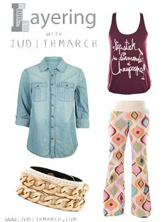 How to Layer with Judith March!!  www.JudithMarch.com   #layer #fall #pants #judytank #judithmarch