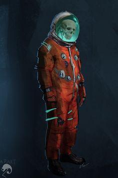 Lost Cosmonaut – horror concept by Pedro Alves