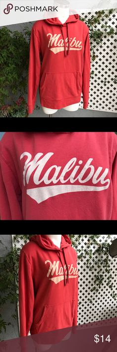 "OLD NAVY SF MALIBU Orange Hoodie Sweatshirt Sz M Measurements laying flat  bust 21"" waist 19"" length 27"" NHL Tops Sweatshirts & Hoodies"