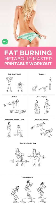 Visit http://workoutlabs.com/workout-plans/fat-burning-metabolic-master-workout-plan-for-weight-loss/ for a FREE PDF of this Fat Burning Metabolic Master Weight Loss printable workout with easy-to-follow exercise illustrations.