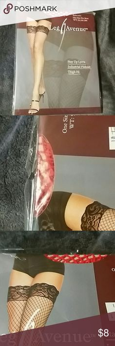 🔖🆕Fish Net Thigh Hi Never Used, Sealed, Lycra, fits 90-160lbs. Leg Avenue Accessories