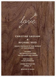 Wood Love Arrow - Paperless Post