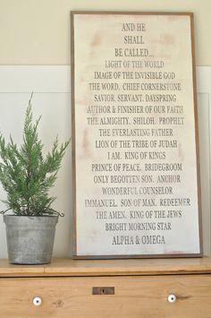 Names of God (ALPHA & OMEGA) for my grandma