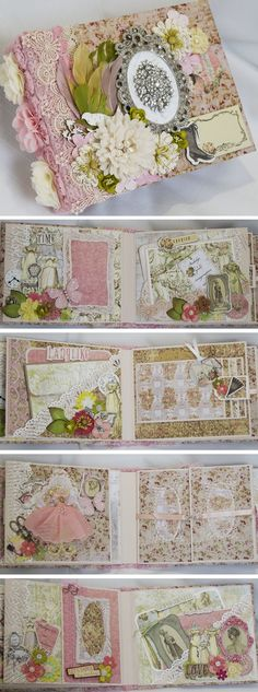 Prima Debutante scrapbook mini album by Terry's Scrapbooks.  https://www.facebook.com/TerrysScrapbooks?ref=hl