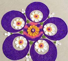 Rangoli Designs Peacock, Easy Rangoli Designs Diwali, Simple Rangoli Designs Images, Rangoli Ideas, Diwali Diy, Colorful Rangoli Designs, Diwali Craft, Beautiful Rangoli Designs, Rangoli Colours