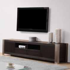 B-Modern Composer TV Stand | Grey and Ebony