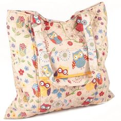 Rustic Ranch Craft Tote Bag - I love this OWL covered bag, just what I need for my knitting (if I ever get motivated enough to pick it up and get clicking again! Crochet Gifts, Knit Crochet, Minerva Crafts, Tote Storage, Craft Bags, Owl Art, Knitting Accessories, Gifts For Kids, Diaper Bag