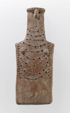 Middle Bronze Plaque Idol - 1600 BC) Terra Cotta Modeled with Red Slip: Red Polished IV H. Dossier, 1894 Department of Oriental Antiquities AM 560 Historical Artifacts, Ancient Artifacts, Spirited Art, Mesoamerican, Clay Figurine, Arte Popular, Indigenous Art, Pottery Designs, Ancient Civilizations