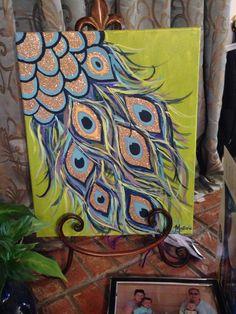 Canvas art #peacock #feather