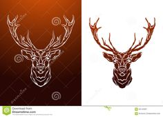 Vintage Deer Label. Retro Vector Design Graphic Stock Vector - Image ...