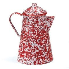 Enamelware 12 Cup Coffee Pot, Red Marble Crow Canyon Home http://www.amazon.com/dp/B001USR6T4/ref=cm_sw_r_pi_dp_K.IMtb19Z43VPD3F