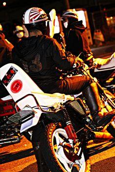 "THRTEEN JAPAN×川崎中部七和會 "" MIDNIGHT SHOOTING"" #thirteenjapan #gang #biker #black #japan #swag #crew #photo #shot #gold"