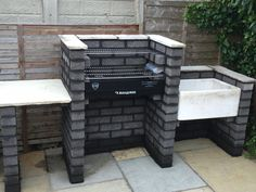 """Exceptional """"built in grill patio"""" info is offered on our web pages. Read more and you wont be sorry you did. Diy Grill, Grilling, Outdoor Barbeque, Backyard Barbeque, Brick Grill, Outside Grill, Built In Grill, Bbq Area, Ovens"""