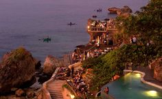 If we ever get to Bali.The Rock Bar - Bali Places Around The World, Oh The Places You'll Go, Travel Around The World, Places To Travel, Places To Visit, Around The Worlds, Rock Bar, The Rock, Bali Resort