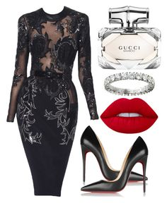 Sin título #690 by alejandramalagon on Polyvore featuring polyvore fashion style Christian Louboutin Cartier Lime Crime Gucci Julien Macdonald clothing