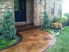 Stained Concrete Sidewalk Malone Texas