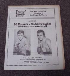 RARE 1974 BOXING PROGRAM-DENNY MOYER VS. RENATO GARCIA SAN DIEGO COLISEUM... please retweet