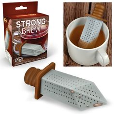 This is the coolest tea strainer ever! (Strong Brew Sword Tea Infuser. August 22, 2014 | via Geek Alerts, Perpetual Kid)
