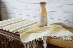 Swedish Vintage Large Wool Rag Rug Hand Woven by ScandicDiscovery