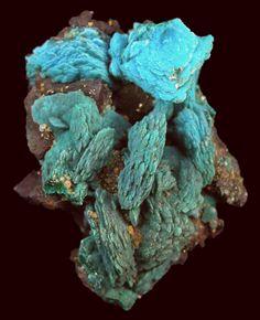 Chrysocolla ps. after Malachite after Azurite Whim Creek Copper Mine, Whim Creek, Pilbara Region, Western Australia, Australia