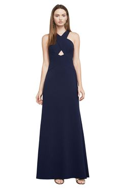 Salome Cutout Halter Gown (bcbg)