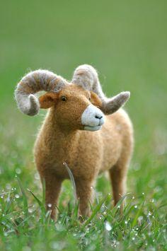 Needle Felted Big Horn Sheep by Teresa Perleberg  #wildlife #art