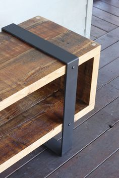 upcycling möbel Wood and metal furniture Furniture design ideas, # ideas # metal furniture # furnitu Steel Furniture, Plywood Furniture, Pallet Furniture, Furniture Makeover, Bathroom Furniture, Diy Furniture Chair, Dark Furniture, Colorful Furniture, Unique Furniture
