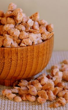 Sugared [& Salted] Peanuts -- really simple three-ingredient recipe (well, four, if you count water) -- reportedly addictive