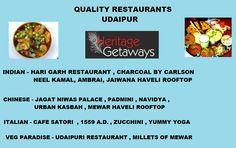 Quality Restaurants Udaipur