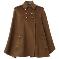 Love this tweed cape coat!