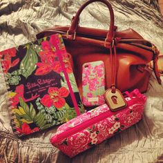 Lilly Pulitzer agenda, pencil pouch, and phone cover! Yes. Please.
