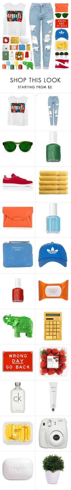 """Courtney"" by vandesousa ❤ liked on Polyvore featuring Topshop, Essie, adidas, Givenchy, Acne Studios, Dr. Dennis Gross Skincare, Mario Luca Giusti, Calvin Klein, Rodin and MANGO"
