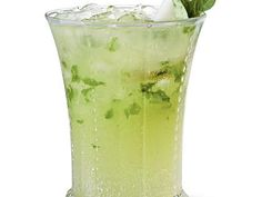 """Pear-Basil Sipper   The refreshing combination of muddled fresh basil and sweet pear-flavored vodka and nectar can't be beat. Pear-Basil Sipper is the """"pearfect"""" pick for holiday entertaining or even a summertime libation."""