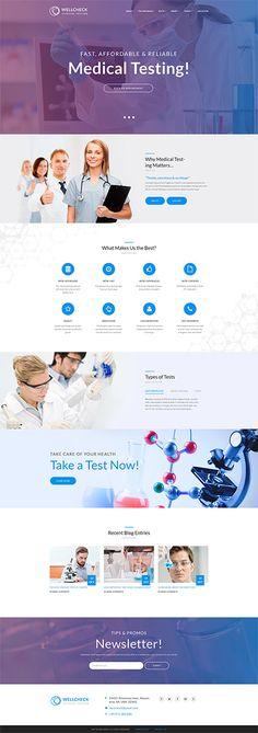 MediCheck - Medical Laboratory Responsive WordPress Theme