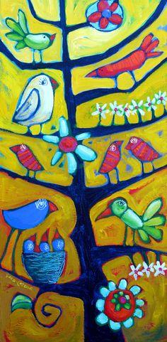Árbol y pájaros
