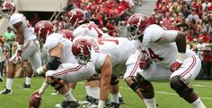 Alabama's 2015  Offensive Line in smash mode.