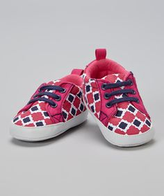 Look at this Yoga Sprout Fuchsia & Navy Booties on #zulily today!