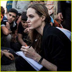 Angelina Jolie Meets with Syrian Refugees at Jordan Border