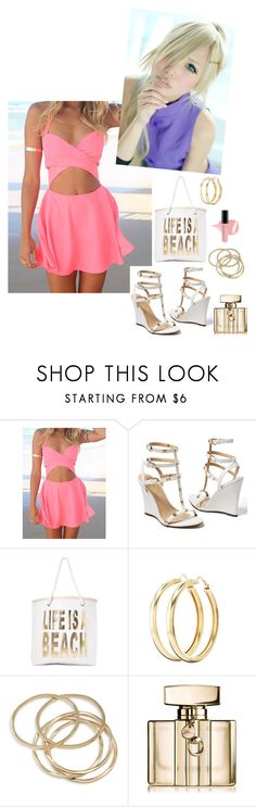 """""""Ino - Life Is What You Make It"""" by kellyspanner ❤ liked on Polyvore featuring Venus, Nasty Gal, Charlotte Russe, ABS by Allen Schwartz and Gucci"""