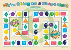 Teaching Resource: A fun board game to aid students' recognition of 2D shapes.