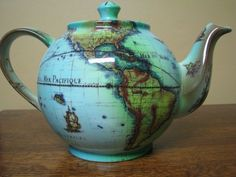 Tea and travel make everything better.(Cardew Terrestrial World Globe Tea Pot) Tea and travel make everything better.(Cardew Terrestrial World Globe Tea Pot) Coffee Cups, Tea Cups, Cuppa Tea, World Globes, Teapots And Cups, My Cup Of Tea, Chocolate Pots, Tea Time, Tea Party