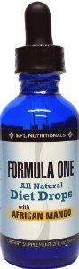 FORMULA ONE TM All Natural Diet Drops with African Mango. For use with Dr Simeons Fast Weight Loss Diet, Includes Allowable Foods List, Basic Diet Instructions Guide