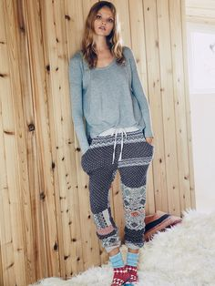 Free People Snuggle Up Jogger, We The Free Thermal Top